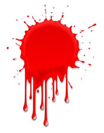 bloodstain: illustration of a blood splash on halloween