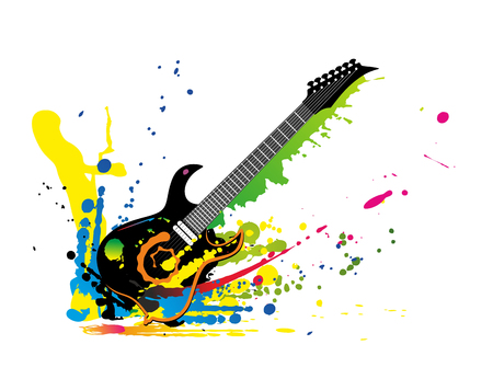 stir up: illustration of a guitar and colors all around