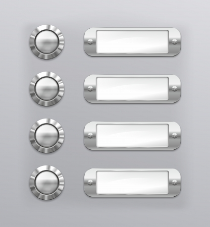 lodger: abstract illustration of a doorbell name panel Stock Photo