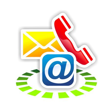 Kleurrijk teken voor middel van service en communicatie Stockfoto - 23416654