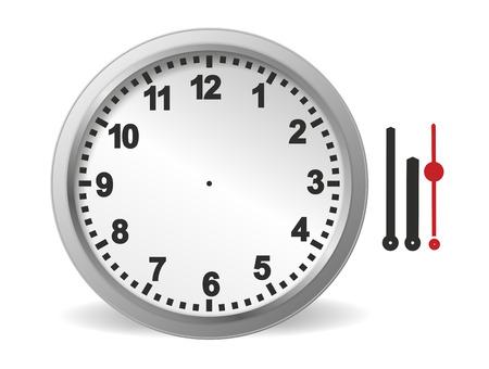reloj de pared: Ilustraci�n de kit de reloj para montar uno mismo