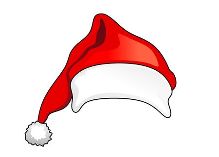 abstract illustration of a christmas hat with pompom Stock Photo