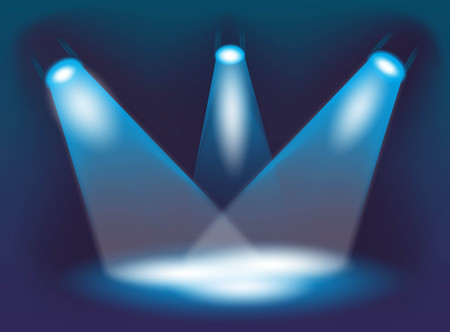 illustration of three spotlights on a stage Stock Illustration - 23759507