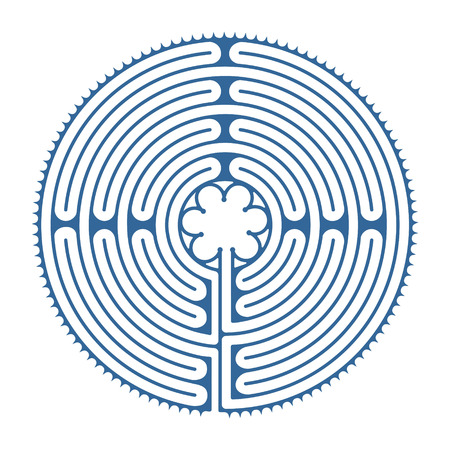 Labyrinth of Chartres with wrong ways and exit