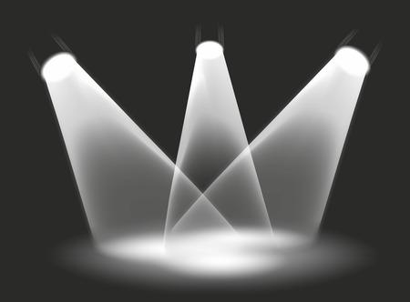 illustration of three spotlights on a stage