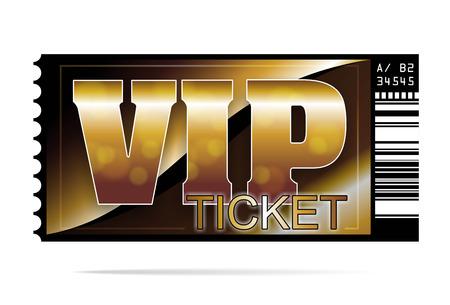 黄金と排他的な VIP チケットのイラスト