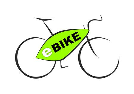 プラグ付き電子自転車の概略図