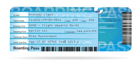 by passes: ilustraci�n de un vuelo para un viaje