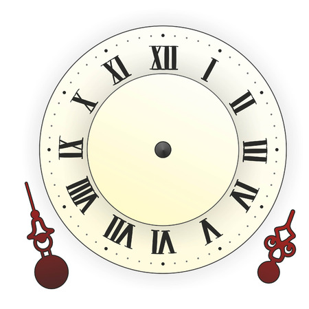illustration of a clock with extra hands to learn illustration