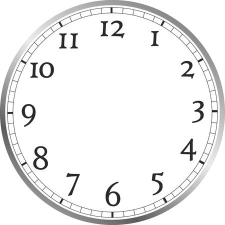 el tiempo: cara del reloj con números grandes, sin manecillas del reloj