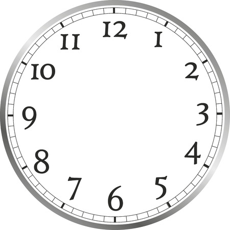 large watch face with numerals, without watch hands