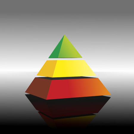illustration of a pyramid with colorful layers