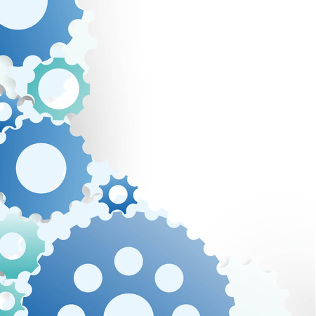 abstract illustration of different colorful gear wheels