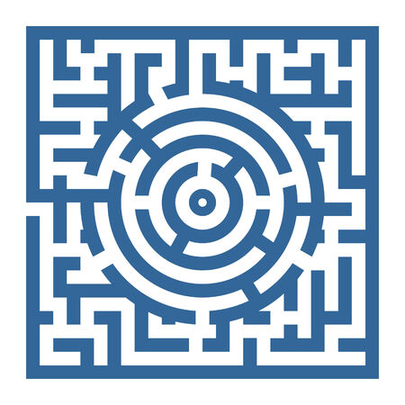 simple labyrinth with some wrong ways and exit photo