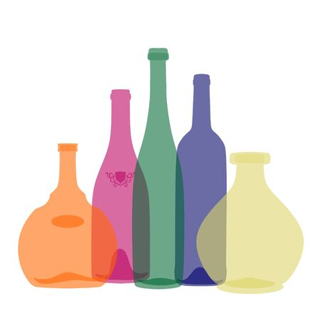 potbellied: Illustration of some wine bottles