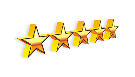 restaurant rating: stars for evaluation of a hotel or restaurant