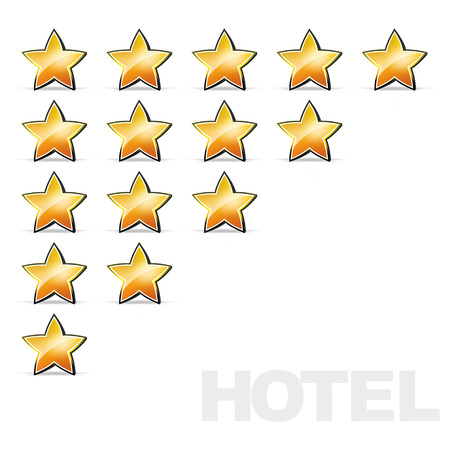 critique: stars for evaluation of a hotel or restaurant