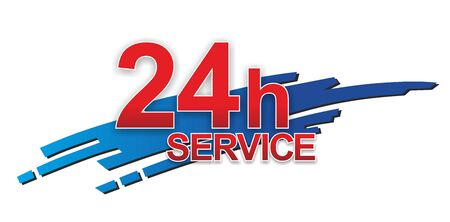 24 hour: abstract sign for 24 hour service or support Stock Photo