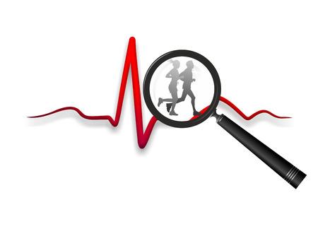 cardioid: ilustraci�n esquem�tica de la relaci�n entre el deporte y la salud del coraz�n