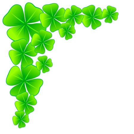 Decorative Border With Four Leaf Clovers As Luck Charm Royalty Free