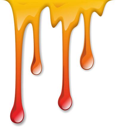 farbe: Darstellung von herabfließender, bunter Farbe