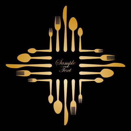 gastronomic: illustration of an abstract gastronomic sign made of cutlery