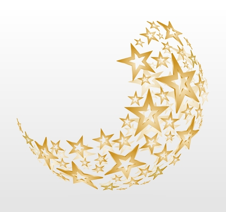 金色の星や星の撮影でクリスマス ボールの装飾