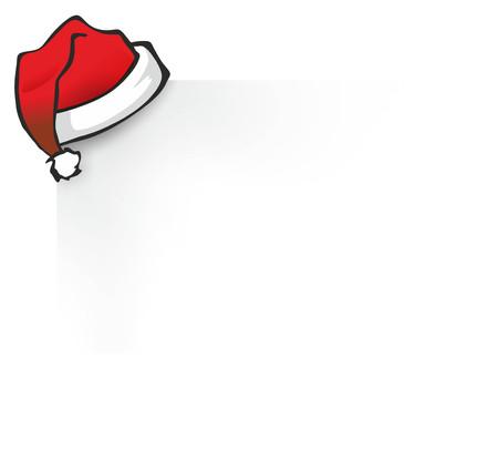 pompom: illustrazione di un cappello di Natale rosso con pompon