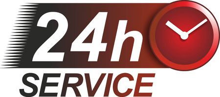 24 hour: a simple sign for 24 hour service
