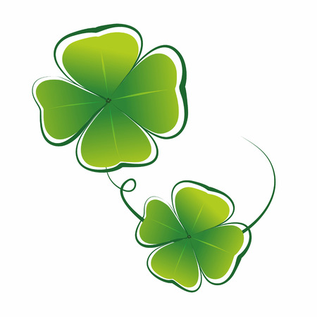 simplified illustration of clover leaves as decorative element illustration
