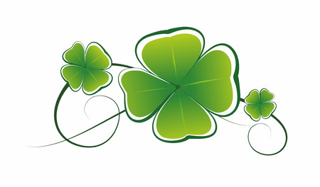 simplified illustration of clover leaves as decorative element