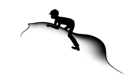 silhouette of a jumping horse with rider photo