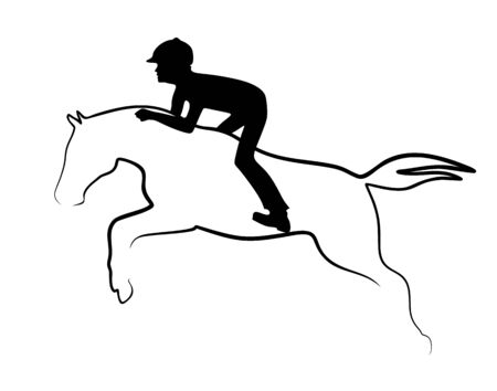 silhouette of a jumping horse with rider