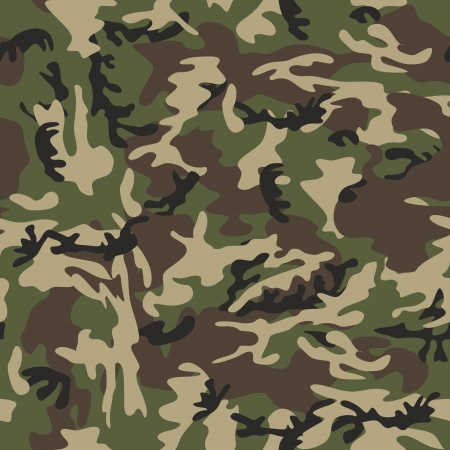 un modèle militaire simple camouflage, sans cesse répétée