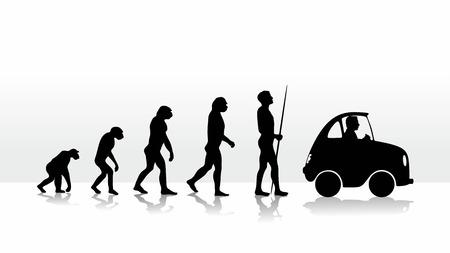 차를 운전으로 끝나는 인간의 진화