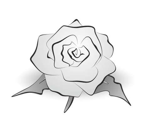 抽象的な装飾用バラのイラスト  イラスト・ベクター素材