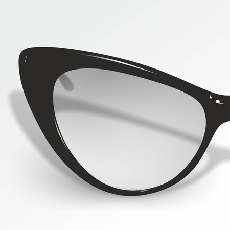 myopic: detailed illustration of black retro style glasses Stock Photo