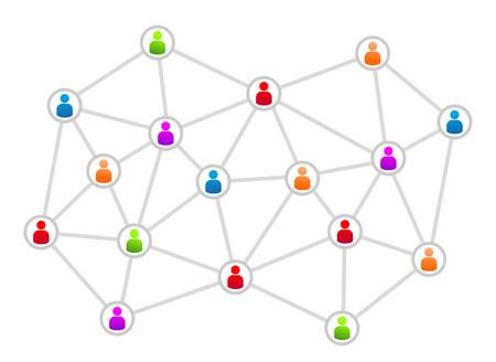 abstracte illustratie voor een hiërarchie op het werk of elders
