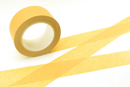 sealing tape: illustration of adhesive tape for sealing parcels Stock Photo