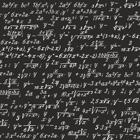 cryptic: picture of formulas written on a blackboard
