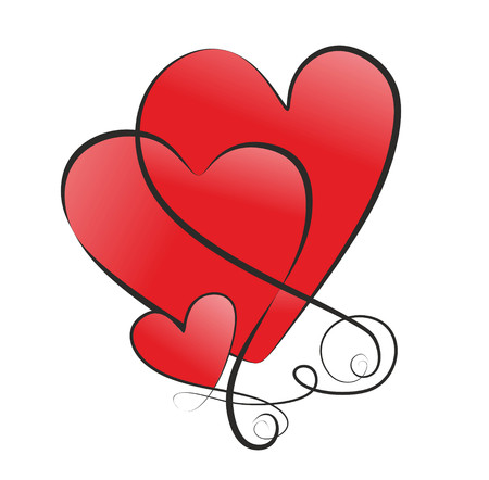 Symbol With Two Big Hearts And A Small Heart Stock Photo Picture