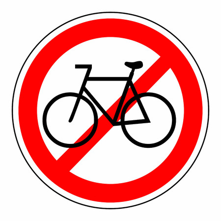 illustration of a sign template prohibiting bicycles illustration