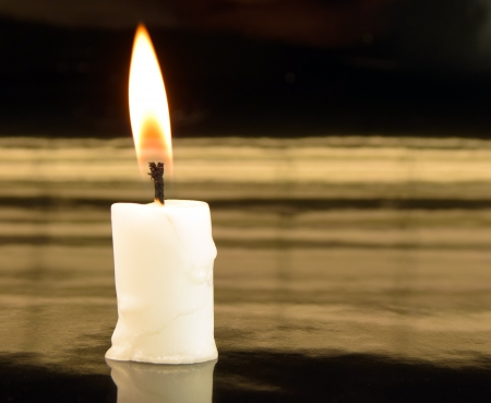picture of burning candles on black background Stock Photo - 25285061
