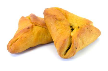 picture of lebanese turnovers with fresh spinach filling