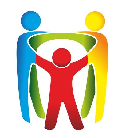 abstract symbool voor familie, relatie en solidariteit
