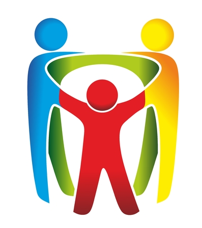 abstract symbol for family, relationship and solidarity