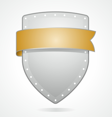 metafoor: embleem als metafoor voor het beschermend schild met banner