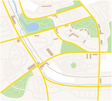 geodesy: illustration of a city map of a fictive city Illustration