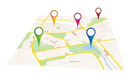 illustration of a city map of a fictive city Vector