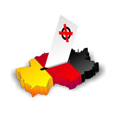 voting box: astratto illustrazione di una casella di voto a forma di Germania